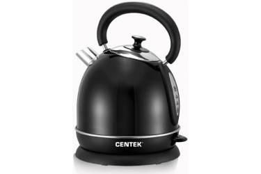 Чайник электрический Centek CT-1078 Black металл (черный, матовый) 2,0л, 2200Вт