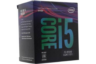 Процессор Intel Core i5 8600K Soc-1151v2 (3.6GHz/Intel UHD Graphics 630) Box w/o cooler