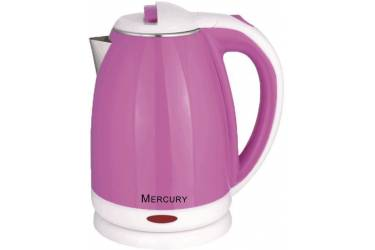 Чайник электрический Mercury MC - 6729 розовый 2,0 л. 2000Вт 2я колба(снаружи пласт,внутри мет)