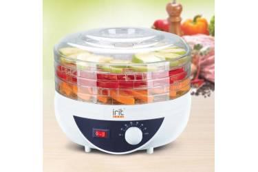 Сушка для фруктов и овощей Irit IR-5925 белый/прозрачный 250Вт 5поддонов 250*270*270мм конвективная