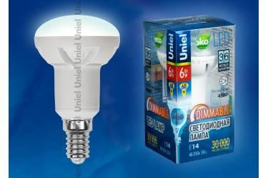 Лампа светодиодная диммир Uniel LED-R50-6W/NW/E14/FR/DIM  рефл мат Palazzo