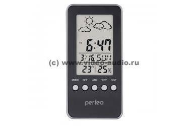 """Часы-метеостанция Perfeo """"Window"""", белый, (PF-S002A) время, температура, влажность, дата"""