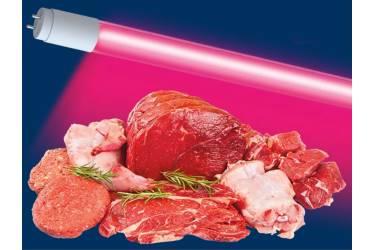 Светодиодная (LED) Лампа FOTON-TUBE T8/G13 - MEAT-20W/_1200мм для подсветки мясных продуктов