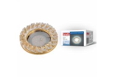 Светильник точечный Uniel DLS-P121 GU5.3 GOLD/CLEAR без лампы