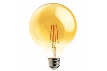Лампа светодиодная FOTON_G125_10W/822_E27 _FILAMENT_VINTAGE_ янтарный шар глоб