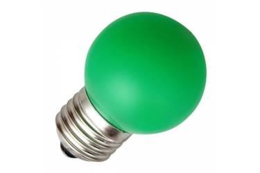 Лампа светодиодная FOTON_DECO GL45_1W/_GREEN_E27_зеленый  шар