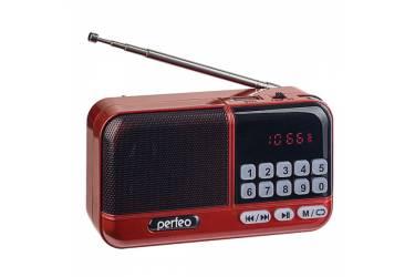 Радиоприемник Perfeo ASPEN FM+ 87.5-108МГц/ MP3/ питание USB или 18650/ красный (i20)