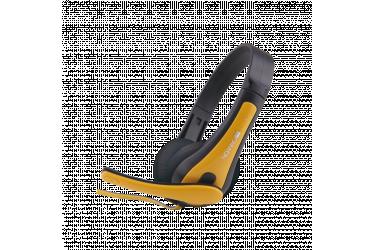 Гарнитура CANYON entry price PC headset, combined 3,5 plug, leather pads, Black-yellow.