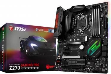Материнская плата MSI Z270 GAMING PRO CARBON Soc-1151 Intel Z270 4xDDR4 ATX AC`97 8ch(7.1) GbLAN RAID+DVI+HDMI