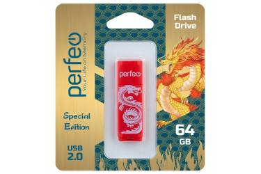 USB флэш-накопитель 64GB Perfeo C04 Red Dragon