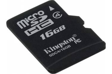 Карта памяти Kingston MicroSDHC 16GB Class 4