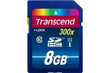 Карта памяти Transcend SDHC 8GB Class 10 UHS-I Premium
