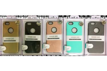 Силиконовая накладка +  пластик iphone 6 Plus розовый в уп.