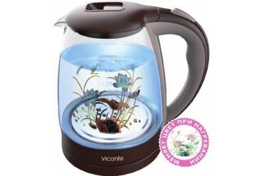 Чайник электрический VICONTE VC-3241 стекло 1,8л 2000Вт терморисунок