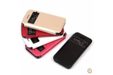 Чехол-книжка с магнитом для iPhone 5/se, арт.007174-2 (Розовый)