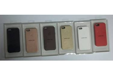 Накладка Iphone 5G/S (кожа) белый