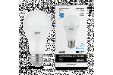Лампа светодиодная GAUSS _A60_20W/6500K_E27 _Стандарт