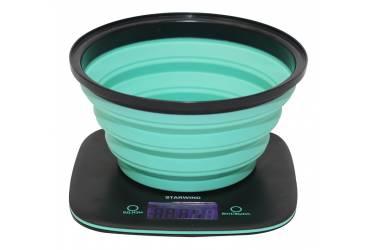 Весы кухонные электронные Starwind SSK5572 макс.вес:5кг темно-серый/бирюзовый