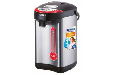 Термопот Centek CT-0081 Black (черн), 4л, 750Вт, 3 способа подачи воды, корпус из нержавеющей стали