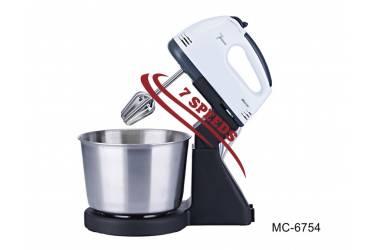 """Миксер с чашей стационарный """"Mercury"""", MC - 6754 200Вт 7скоростей чаша из нержавеющей стали"""