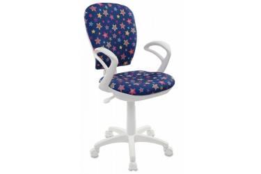 Кресло детское Бюрократ CH-W513AXN/STAR-BL синий звезды Star-Bl (пластик белый)
