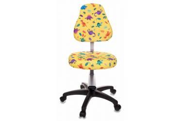 Кресло детское Бюрократ KD-8/DINO-Y желтый динозаврики