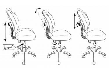Кресло детское Бюрократ KD-W6/GIRAFFE оранжевый жираф (пластик белый)