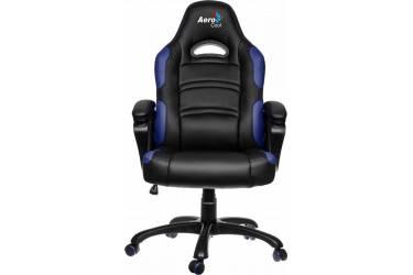 Кресло игровое Aerocool 428386 черный/синий сиденье черный/синий кожа крестовина металл