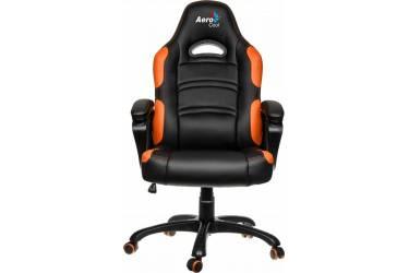Кресло игровое Aerocool 428391 черный/оранжевый сиденье черный/оранжевый кожа крестовина металл