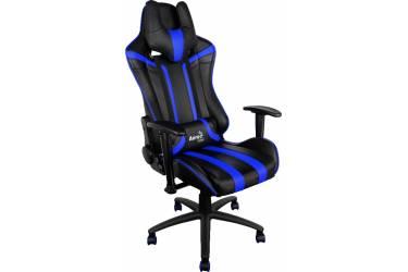 Кресло игровое Aerocool 428415 черный/синий сиденье черный/синий искусственная кожа крестовина металл