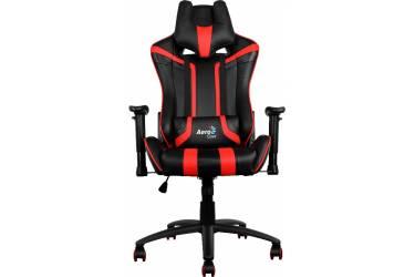 Кресло игровое Aerocool 428417 черный/красный сиденье черный/красный искусственная кожа крестовина металл