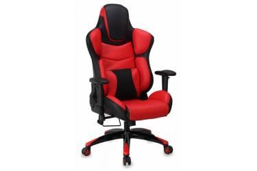Кресло игровое Бюрократ CH-773/BLACK+R одна подушка черный/красный искусственная кожа (пластик черный)
