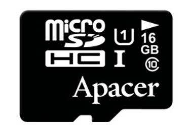 Карта памяти Apacer MicroSDHC 16GB Class 10+adapter