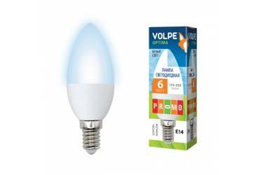Лампа светодиодная Volpe LED-C37-8W/NW/4500К/E14/FR/O свеча мат