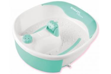 Гидромассажная ванночка для ног Scarlett SC-FM20101 45Вт белый/бирюзовый