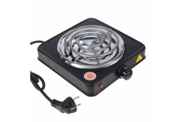 Плитка электрическая настольная IRIT IR-8101 (чёрная) спираль 1конфорка чугун 1000 Вт