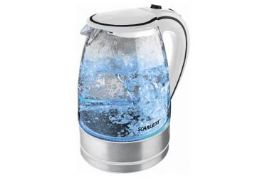 Чайник электрический Scarlett SC-1024 1.7л. 2200Вт белый (корпус: стекло)