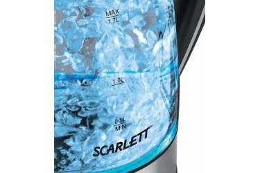 Чайник электрический Scarlett SC-1024 1.7л. 2200Вт черный (корпус: стекло)