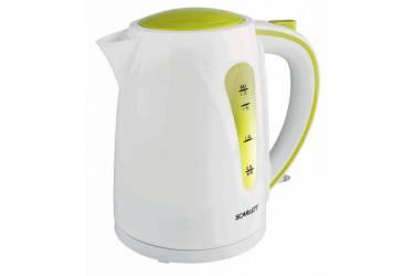 Чайник электрический Scarlett SC-EK18P13 1.7л. 2200Вт белый/зеленый (корпус: пластик)