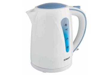 Чайник электрический Scarlett SC-EK18P14 1.7л. 2200Вт белый/голубой (корпус: пластик)