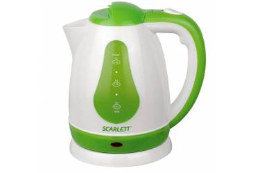 Чайник электрический Scarlett SC-EK18P30 1.8л. 1700Вт белый/зеленый (корпус: пластик)