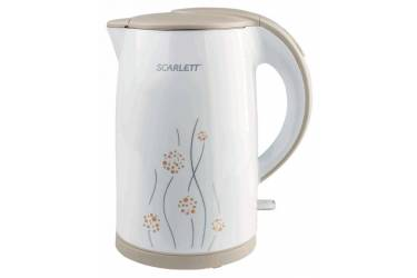 Чайник электрический Scarlett SC-EK21S08 1.7л. 2150Вт белый/бежевый (корпус: пластик)