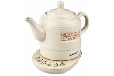 Чайник электрический Scarlett SC-EK24C02 1.3л. 1850Вт бежевый (корпус: керамика)