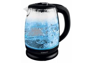 Чайник электрический Scarlett SC-EK27G09 1.7л. 2200Вт черный (корпус: стекло)