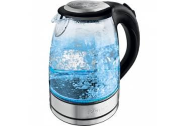 Чайник электрический Scarlett SC-EK27G14 1.7л. 2200Вт серебристый (корпус: стекло)
