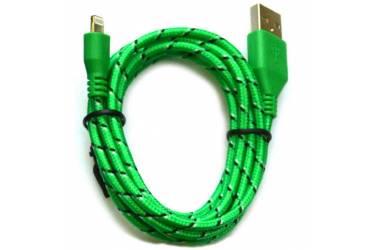 Кабель USB Smartbuy Apple 8 pin нейлон, 1 м, зеленый