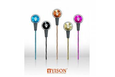 Наушники Yison EX210 внутриканальные с микрофоном розовые
