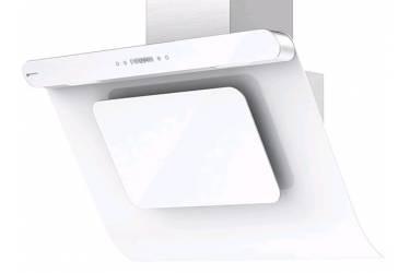 Вытяжка каминная Shindo Arktur 90 W/WG 3ETC нержавеющая сталь/белое стекло управление: сенсорное (1 мотор)