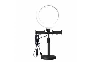"""Кольцевая лампа CXB-160A, 6"""" с двумя держателями для телефона, диаметром 15,5 см"""