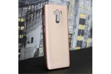 Силиконовый чехол LIKGUS CARBON для Xiaomi Redmi 5A, Розовое Золото